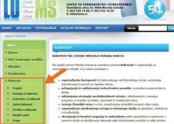 Spletne strani o kakovosti